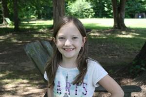 Olivia, 8, loves everybody.