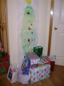 A paper Christmas tree is the ultimate low maintenance decoration.