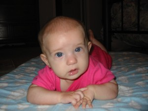 It's a good thing Alyssa was so cute. She was a tough baby, otherwise.