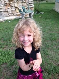 Emma, 4, lives life full throttle.