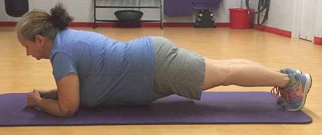 This exercise helps your posture habit by also strengthening your core muscles.